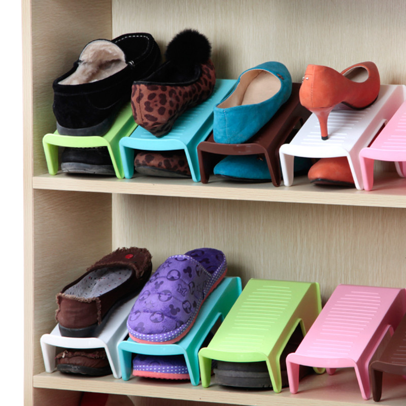Home Furniture Plastic Shoes Rack Organizer Single Layer