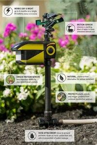 Image 4 - UPGRADED Solar powered Motion Activated Animal Repeller Garden Sprinkler Scarecrow,Animal Deterrent