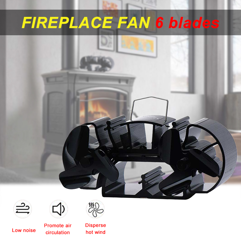 3.9 Inches Height Extra Mini Twin Blade Heat Powered Stove Fan Specially For Super Small Space On Wood/Log Burner/Fireplace Top hearth
