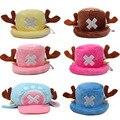 Anime de Una Pieza juguetes de cosplay Tony Chopper felpa del sombrero del algodón caliente del sombrero del invierno casquillo de la historieta para el regalo de los niños