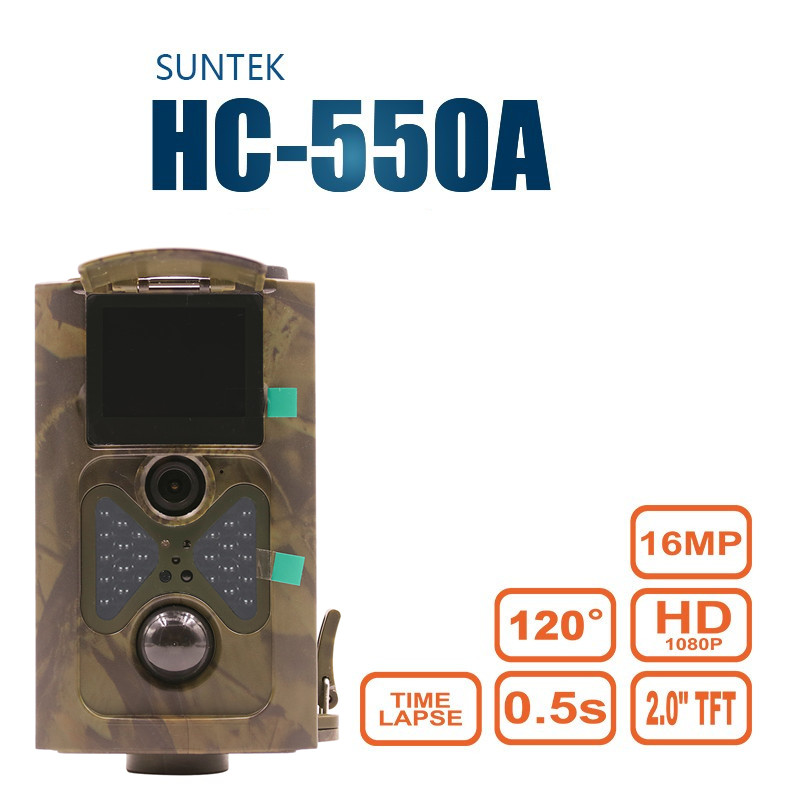 Фотография Night Vision Hunting Camera HC-550A Wildlife Photo Traps Infrared IR LED 16MP HD Digital Infrared Scouting Trail Camera HC550A