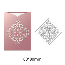 New Arrival Greeting Pattern Hollow Border Cutting Dies Metal Steel Handcraft for Creative Scrapbook Embossing Paper Card 1PC