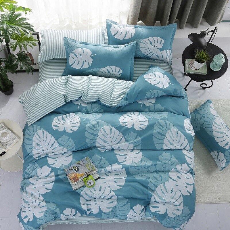 Banana Leaf Printing  Bedding Set  (Duvet Cover Bed Flat Sheet Pillow Case) 3PCS/4PCS  Twin Full Queen King Size
