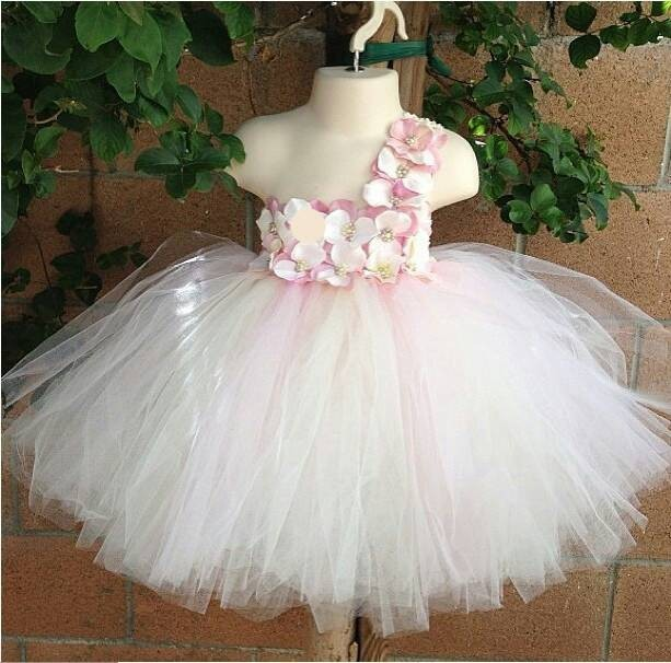 WHOSALE Pink Fluffy Dress Toddler Birthday Wedding Child Bridesmaid For Baby Girls Tutu Fantasias Infantis 1 2 Years Old 90767