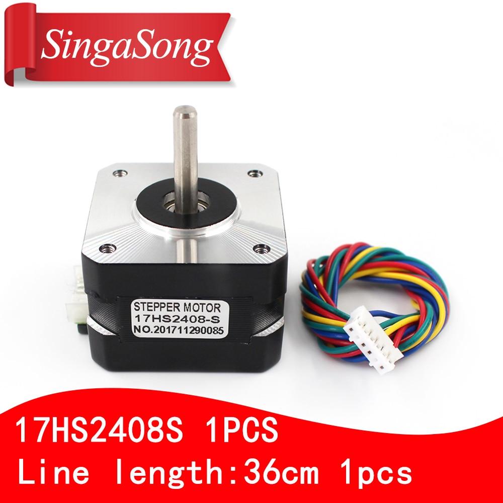Nema 17HS2408 S 17HS2408S 4-lead Nema 17 Stepper Motor 42 motor 42BYGH 0.6A CNC Laser and 3D printer