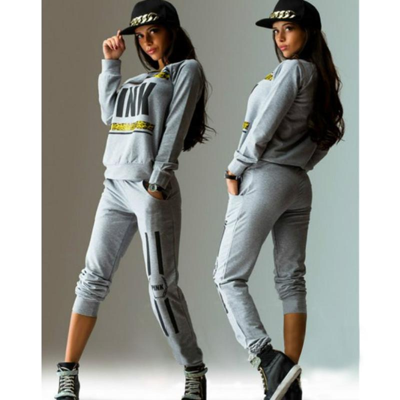 Ingenious 2pcs Women Casual Letter Printed Sportswear Tops Sweatshirt+pants Tracksuit Sweat Suits Tracksuit O-neck Jogger Set High Safety