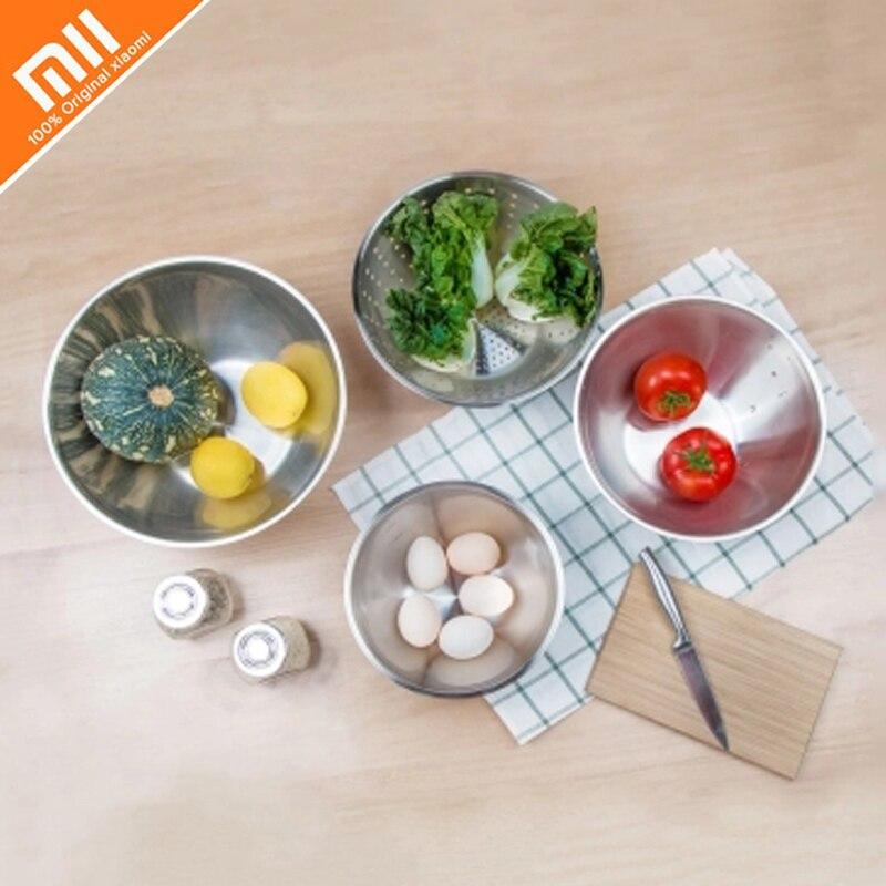 Four piece xiaomi mijia MAISON MAXX stainless steel dish basin Kitchen utensils washing dish tray set