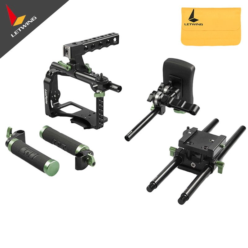 Lanparte MCK-02 Micro Single Video Suite Top Handle FF-02 Follow Focus Chest Support Cage for Sony A7S Panasonic GH3 GH4 1 1532142 2[d sub micro d connectors 094 5104 7003 mck n1 p mr li