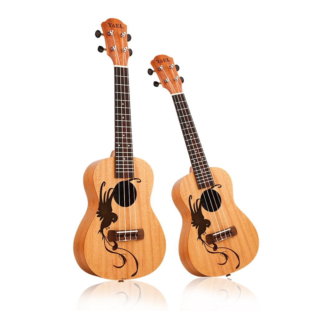 23 inch /21 inch Ukulele Concert 4 Strings Musical Instruments 18 Frets Mahogany lucky bird Choose