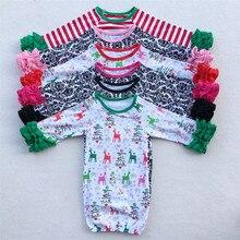 Детские пижамы, спальный мешок для младенцев, спальный мешок для новорожденных, Детская ночная рубашка, ночные рубашки с длинным рукавом для девочек 0-24 месяцев