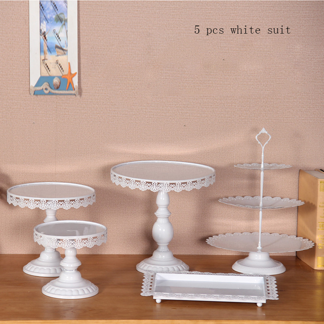 5 pieces cupcake stand White wedding party cupcake stand display ...