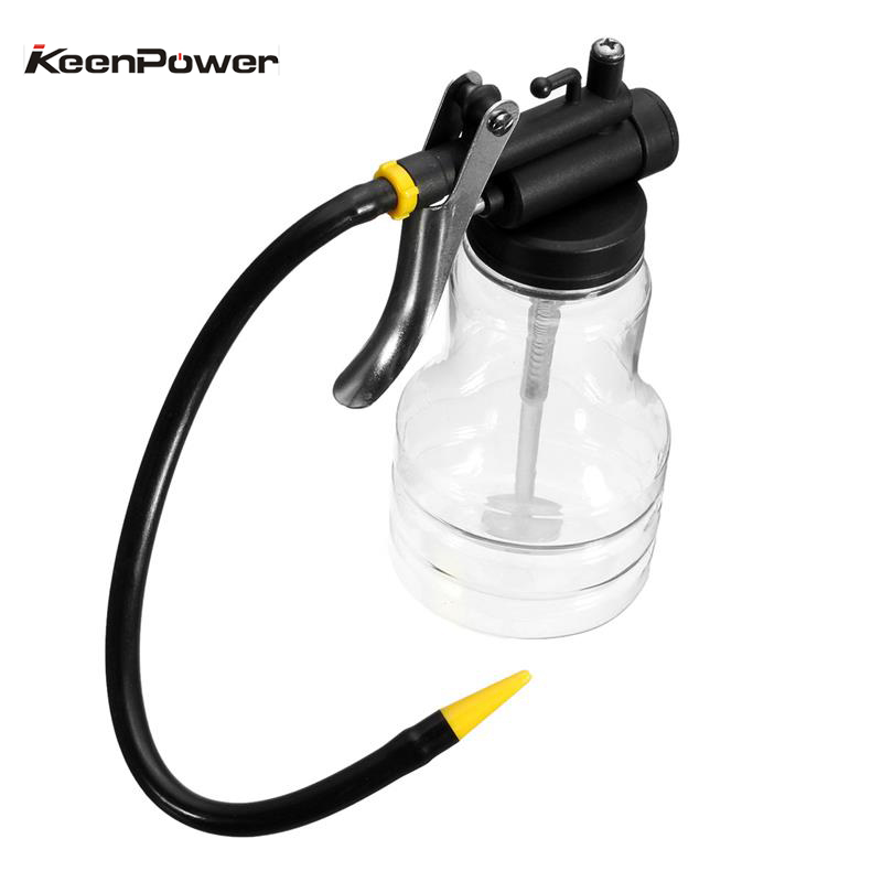 Keenpower New 250cc Transparent High Pressure Pump Oiler Lubrication Oil Can Plastic Machine Oiler Grease 245mm Length flex Gun