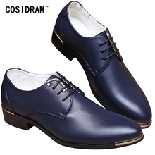 2015 Fashion High Quality PU Pointed Leather Men Oxfords Lace Up Business Men Shoes Men Dress