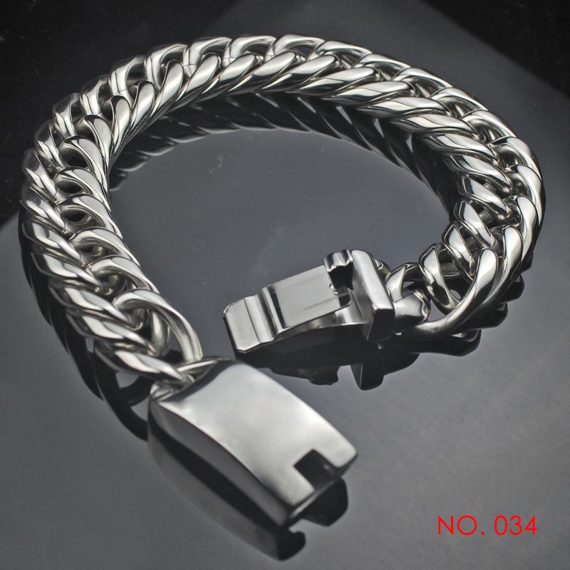Hiphop Biker Stainless Steel Chain Bracelet For Men Women Motorcycle Wristband Hand Charm Link Bracelets Jewelry Gifts 034 opk biker stainless steel men bracelet