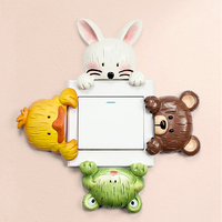 European Resin Switch Plate Wall Hangings Decorative Wall Stickers Cute Duck Socket Adornment Household Wall Hangings
