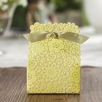 100pcs green flower garden Wedding Laser Cut Wedding Favor Boxes Wedding Candy Box Casamento Wedding Favors And Giftsd Gifts