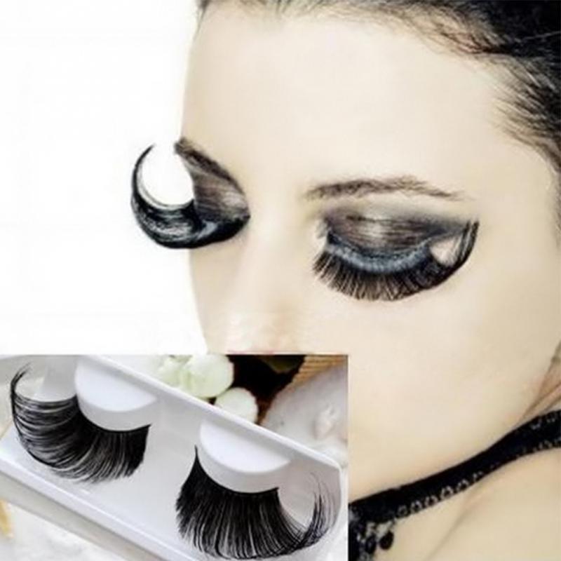 1Pair Women Extra Long False Eyelashes Fake Lashes 3D Mink Lashes Extension Eyelash Fiber Mink Eyelashes For Perform/Party #518