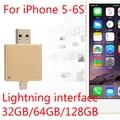 2.0 Unidad Flash Usb 100% 64 GB 128 GB Regalo USB OTG 8 gb 16 gb 32 gb pendrives pen drive 512 gb 256 gb para iphone 6 s/6/5/ipad/ipod