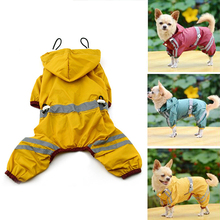 High Quality Pet Dog Cat Raincoat Clothes Puppy Glisten Bar Hoody Waterproof Rain Jackets