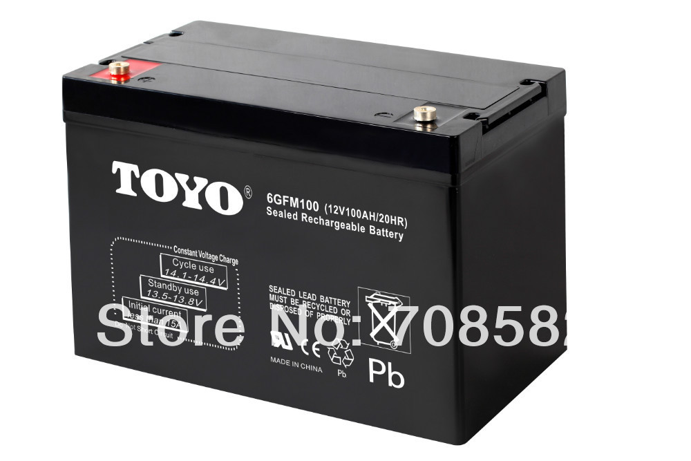 AGM battery 12V100AH for Electric vehiclesstorageUPSback up system