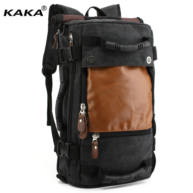 Brand Stylish Travel canvas Large Capacity Backpack Male Luggage Shoulder  Bag Laptop Backpacking Men Functional Versatile Bags c670679db3c6d