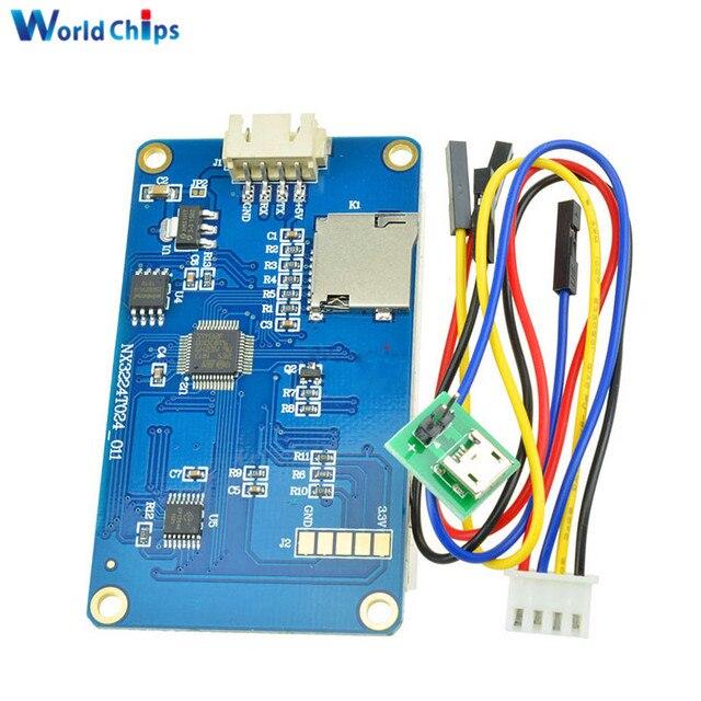 """Ingilizce Nextion 2.4 """"TFT 320x240 rezistif dokunmatik ekran USART UART HMI seri LCD modül ekran Arduino ahududu Pi için 2 A +"""