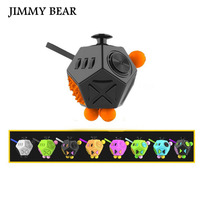 ג 'ימי דוב 1 יחידות לקשקש קוביית צעצועי מתח אנטי ילד ילדה שולחן קוביית למבוגרים Fidgetcube ספין צבע אקראי