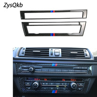 For BMW F10 5 Series Interior Trim Carbon Fiber Air conditioning CD Control Panel Cover Trim Car Styling 520i Accessories