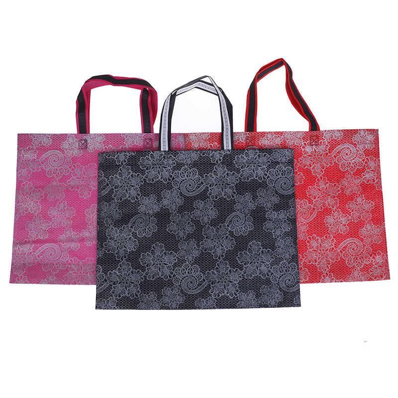 Kadın Lady Katlanabilir alışveriş çantası Rahat Yeni Taşınabilir Büyük Naylon Tote Su Geçirmez Kalın Çanta