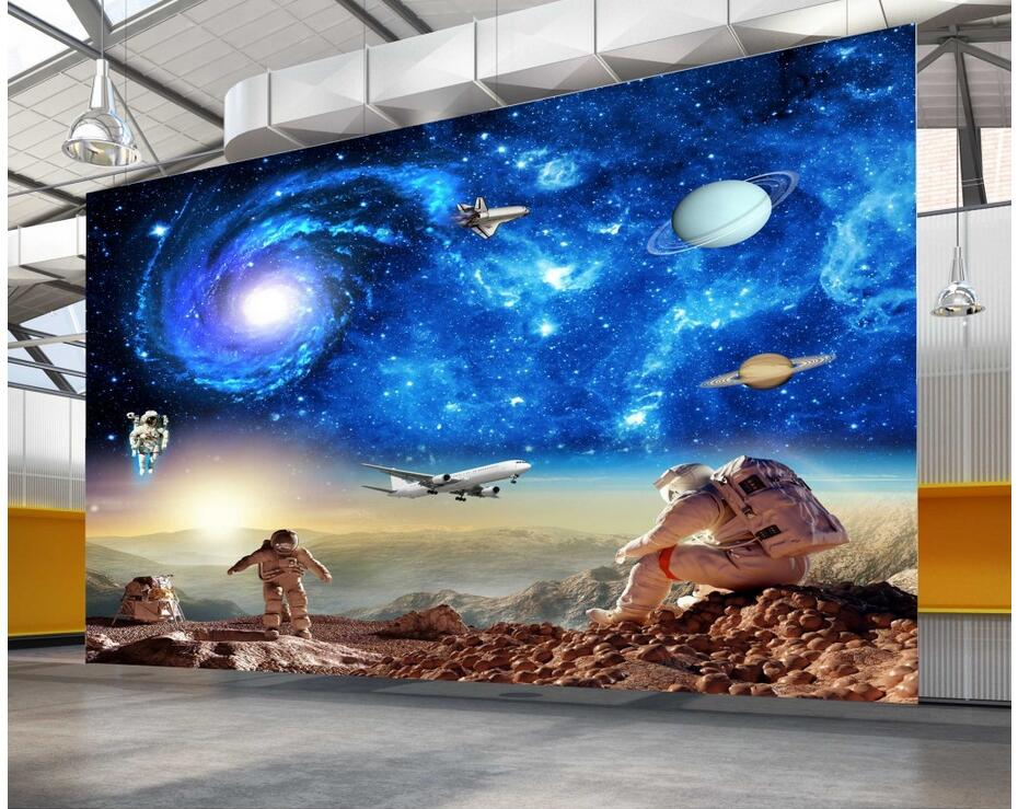 3d room wallpaer custom photo non woven mural space dream star galaxy decoration painting 3d. Black Bedroom Furniture Sets. Home Design Ideas