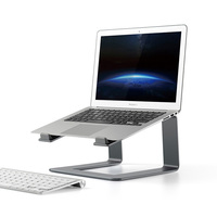 Aluminum Laptop Cooling Stand for Macbook Air Pro Retina Increase Height Vertical Laptop Holder for Lenovo HP 17 Inch Notebook