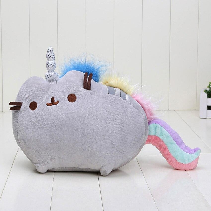 20 25cm Kawaii Cute Pusheen Cat cosplay Rainbow unicorn Cake Style Plush Toys soft stuffed doll