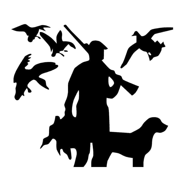 Car Styling Funny HUNTING Vinyl DUCK Stylish Car Stickers On - Rear window hunting decals for trucksgeese scenery sticker for rear window hunting decals for trucks