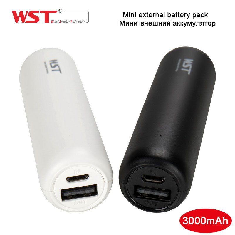 Wst Authentic Mini Energy Financial institution 3000Mah Moveable Exterior Battery Pack For Cellular Cellphone Battery Charger Small Dimension Energy Financial institution Mini