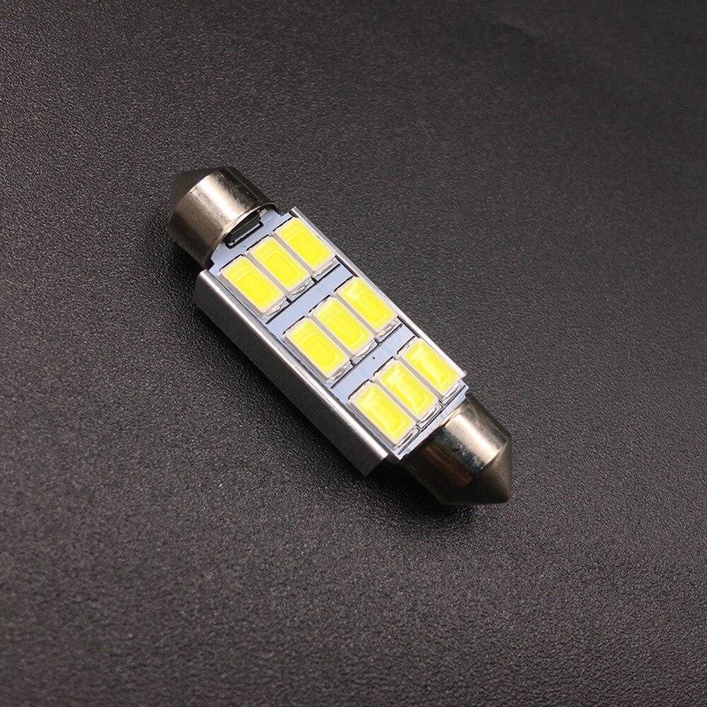 WHITE TOYOTA 39mm CANBUS ERROR FREE SMD LED FESTOON BULB C10W C5W