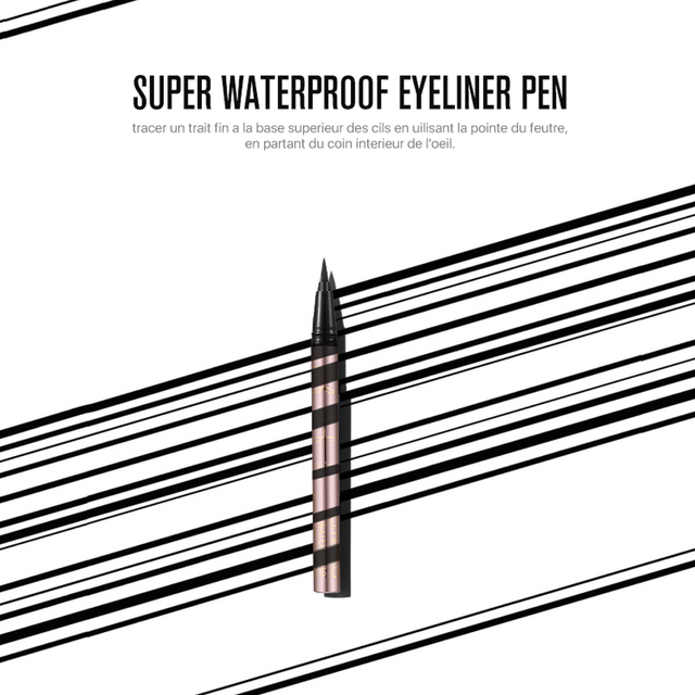 O.TWO.O Professional Waterproof Liquid Eyeliner Beauty Cat Style Black Long-lasting Eye Liner Pen Pencil Makeup Cosmetics Tools 4