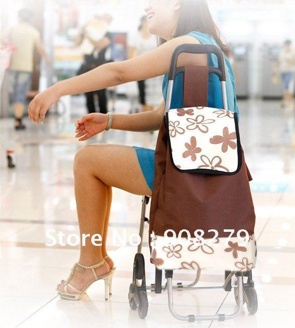 Aliexpress.com : Buy Climbing shopping cart with seat luggage ...