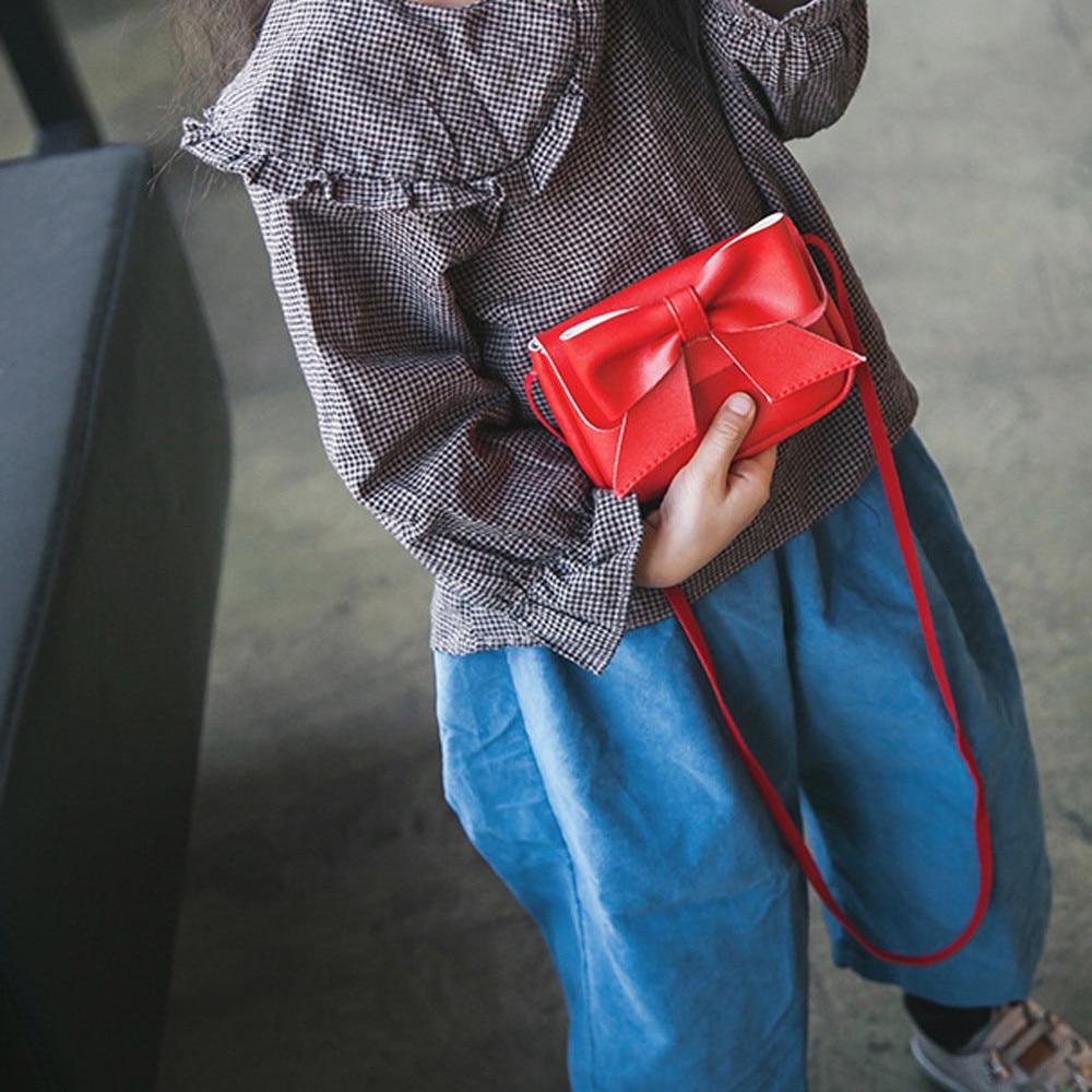 Bags For Girls Cute Bowknotl Leather Handbag Shoulder Bag Mini Crossbody Bag Cartera Mujer Kawaii#A27
