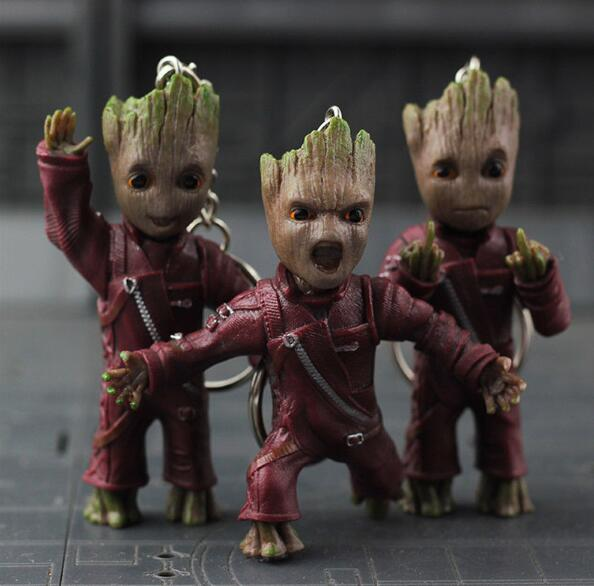 New Baby Tree Guardians of the Galaxy Vol. 2 Key Chain Alloy Keyring Pendant IB Action Figure Collectible Model Toy keith giffen threshold vol 1 the hunted the new 52