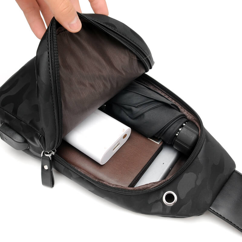 Bolsa de Ombro Sólida Zipper Bolsa Crossbody Pinshang