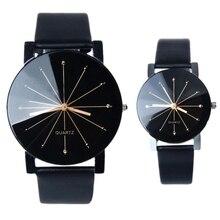 Хит, новые модные часы для женщин и мужчин, часы для влюбленных, кожаные кварцевые наручные часы, женские и мужские часы, Relogios Feminino, Прямая поставка