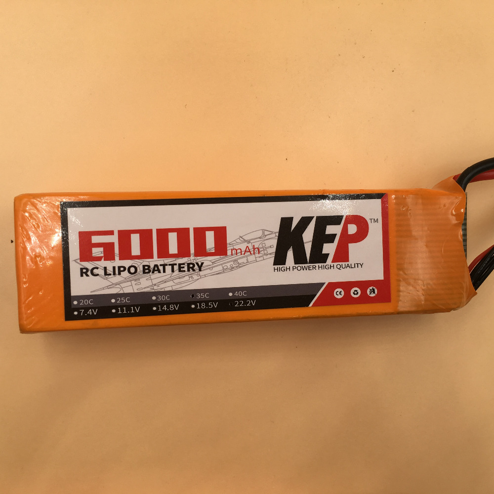 KEP 6S RC Lipo Battery 22.2v 6000mAh 30C For RC Aircarft Helicopter Drones Car Boat Quadcopter Airplane Li-ion Battery 6S 30C