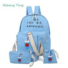 Лидер продаж Мода унисекс, парусиновая подростков школьная сумка книга camputer Путешествия Рюкзак Для Девочки Детская школа книга сумки