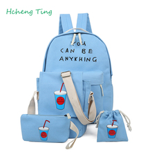Hot Sale Fashion Unisex Canvas Teenager School Bag Book Camputer Travel Backpack for girl children school book bags