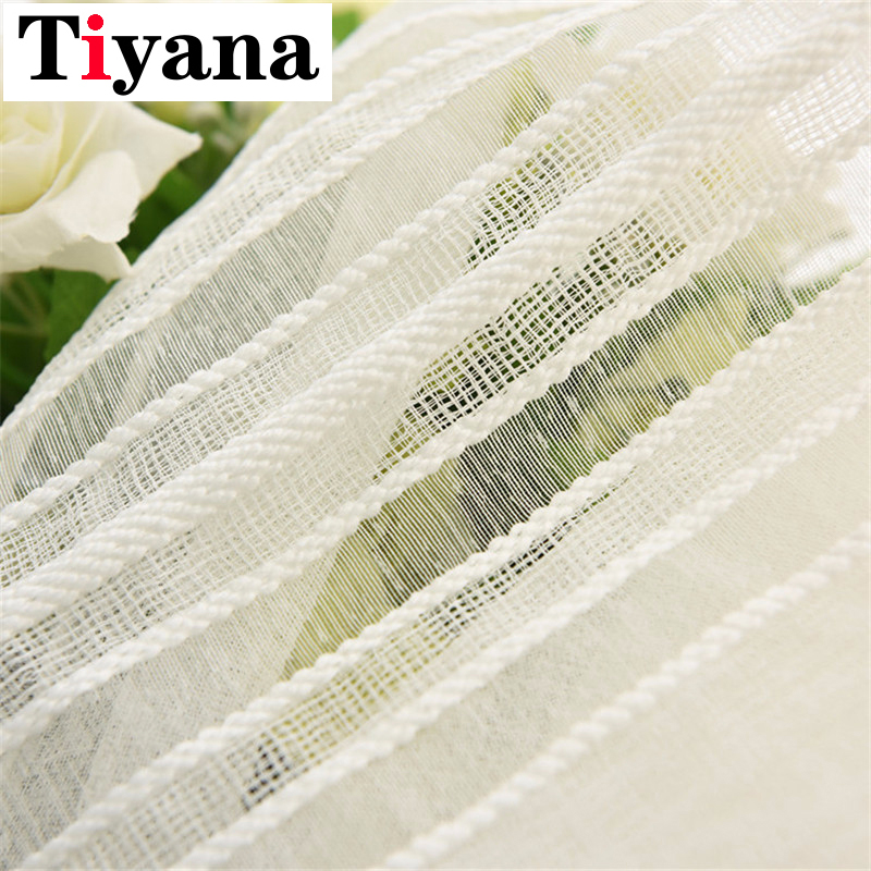 American Style Soft White Voile Solid Rural Tulle Curtains For Living Room Curtains For Bedroom Fabric Blinds Drapes P277D3