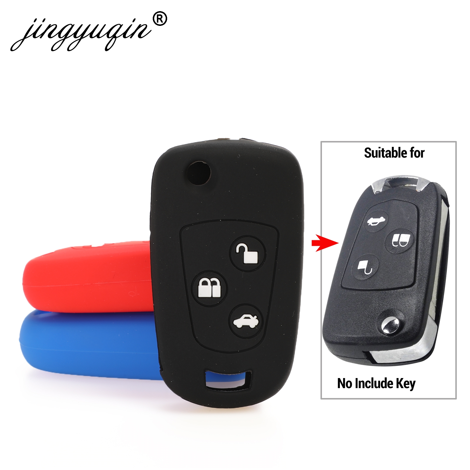 jingyuqin Flip 3 Buttons Remote Key Fob Silicone Case For Ford Focus Mondeo Fiesta Modified Flip Key Cover-in Key Case for Car from Automobiles & Motorcycles