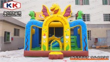 inflatable mini dinosaur jumping bouncer for kids / custom inflatable bouncer house
