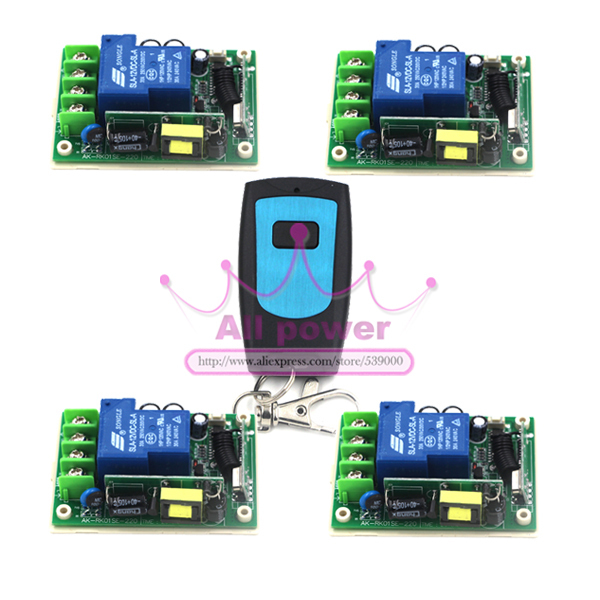 цена на 0-150M 85v to 250V 315MHZ high power single channel RF switch/Remote controls for motor/water pump/lighting controlling