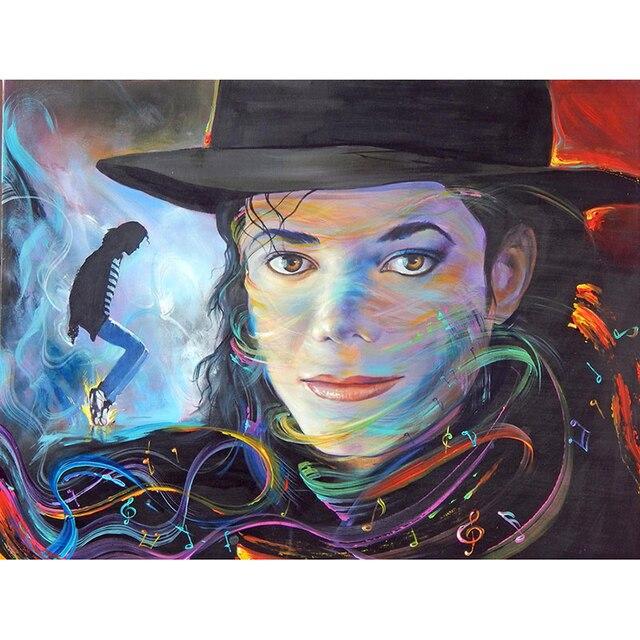 100% DIY diamante mosaico Michael Jackson 5d Cuadros de punto de ...
