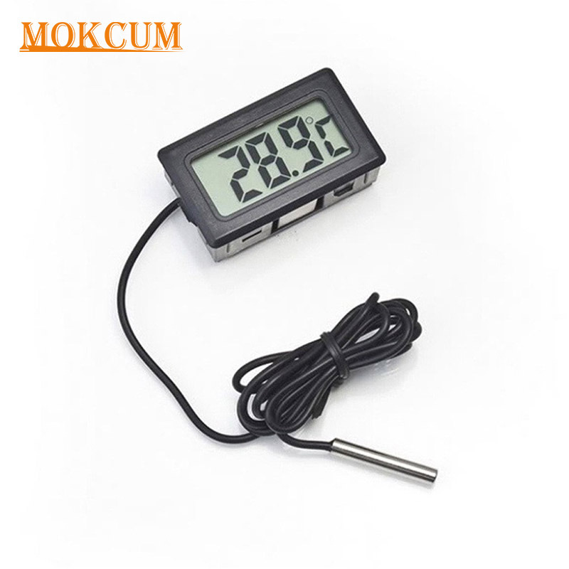 LCD Digital NTC Thermometer for Fridge Freezer Aquarium FISH TANK Temperature Sensor Waterproof Probe Room Outdoor Tester Meter az 8891 digital wall mounted waterproof thermometer w long probe boiler water temperature meter tester